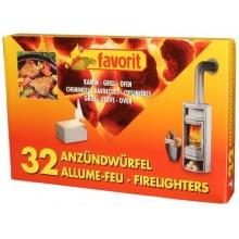 favorit 1250 Grillanzünder für Grill, Kamin und Ofen, 32-er Pack Bild 1