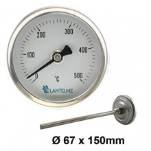 500 Grad Backofen Räucher Grillthermometer Lantelme Bild 1
