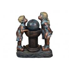 Springbrunnen Dorfkinder Wasserspiel Bild 1