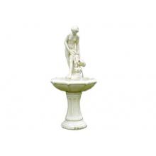 Romantischer Springbrunnen 120 cm groß, Garten Brunnen Bild 1