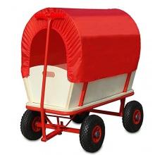 Bollerwagen mit Dach rot - Handwagen von Deuba Bild 1
