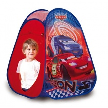 JOHN Pop Up Kinderzelt Cars Neon Camping Outdoor, rot Bild 1