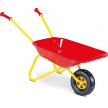 Spielmaus 270804 Kinder Schubkarre aus Metall rot gelb Bild 1
