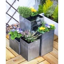 Bepflanzbarer Kaskadenbrunnen Daintree - Silber Bild 1