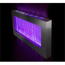 Sprudelnder Wandbrunnen mit bunter LED-Beleuchtung, Querformat Bild 1