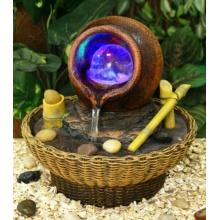 Oshi Brunnen Mit Drehender Glaskugel Und LED-Beleuchtung Bild 1
