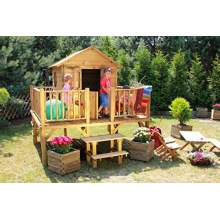 Baumotte Kinderspielhaus Ernie mit Kinderrutsche  Bild 1