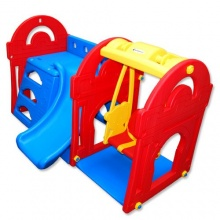 PETRA 3 - Spielhaus mit Kinderrutsche und Schaukel  Bild 1