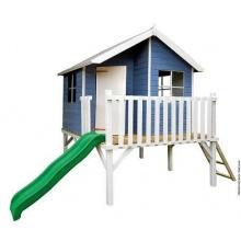 Baumotte,Kinderspielhaus Max mit Kinderrutsche Bild 1