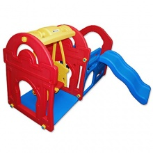 PETRA 1,Spielhaus mit Kinderrutsche und Schaukel  Bild 1