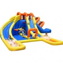 Happy Hop Hüpfburg Wasserpark mini mit Kinderrutsche  Bild 1