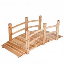 Teichbrücke Gartenbrücke aus Holz mit Geländer Bild 1