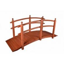Holz Brücke mit Geländer rot - braun Bild 1