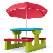 Kindersitzgr.,Sonnenschirm 2 Bänke,Tisch,Infantastic Bild 1