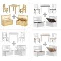 Impag Kindersitzgruppe mit Kindertruhenbank  Bild 1