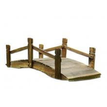 Holz Deko Brücke mit Geländer braun Bild 1