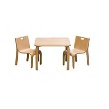 Impag Kindersitzgruppe 1 Tisch + 2 Stühle York Buche Bild 1