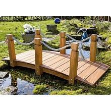 Teich-Brücke aus Holz für Gartenteich Bild 1