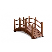 Gartenbrücke, orientalischer Stil, Holz, handgefertigt, klein Bild 1
