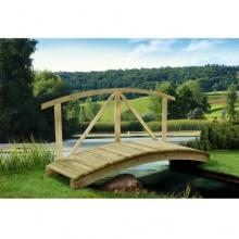 Gartenteichbrücke mit Handlauf von Gartenpirat® Bild 1