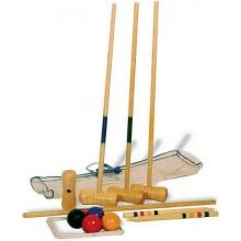 Krocket 19 tlg. Holz Holzspiel Holzkrocket von Prikker Bild 1