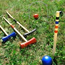 Krocket-Set aus Holz, 4 Spieler von geburtstagsfee Bild 1