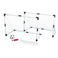 Idena  - Mini Fußballtor Set, 2 Tore, 1 Ball u Pumpe Bild 1