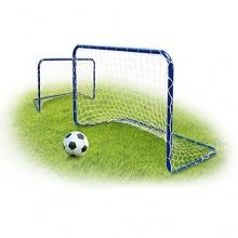 2 Stück Mini Fußballtore Metall inkl. Netz Relaxdays Bild 1