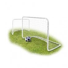 Relaxdays Mini Fußballtor weiß inkl. Netz und Heringe Bild 1