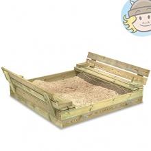 WICKEY Sandkasten,Sankiste Flip 110x125cm Bild 1