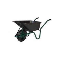 Limex Bauschubkarre grün 100l Kunststoffmulde Bild 1