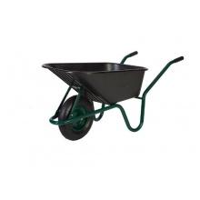 Bauschubkarre mit Kunststoffmulde 100 Liter schwarz Bild 1