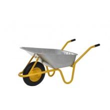 Limex Bauschubkarre 85l Mulde verzinkt gelb Bild 1