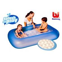 BESTWAY aufblasbarer Pool rechteckig 165x104cm Bild 1