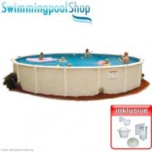 Stahlwandbecken eingelassener Pool 4,60 m x 1,32 m T1 Bild 1