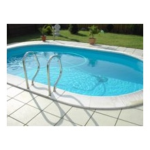 Basis Set eingelassener Pool Ovalpool Trendpool Bild 1