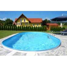 Schwimmbecken Oval eingelassener Pool Lugano Bild 1