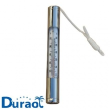 Duraol Deluxe Pool Thermometer aus Chrom (sehr stabil) Bild 1