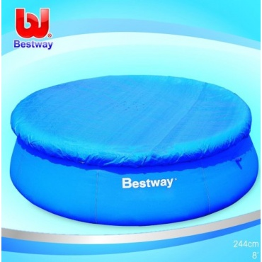 Bestway 58032 poolabdeckung f r 244 cm pools test for Garten pool testbericht