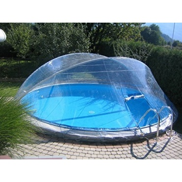 cabrio dome berdachung pool abdeckung f r ovalbecken test. Black Bedroom Furniture Sets. Home Design Ideas