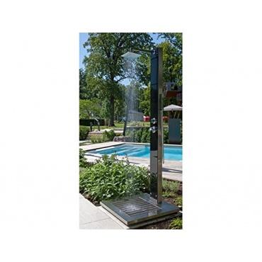 Sicherheits glasfront pooldusche ideal kuba test for Garten pool testbericht