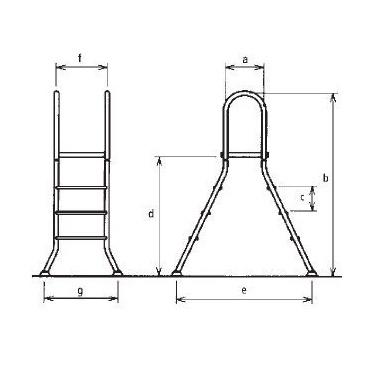 poolleiter edelstahl 1 30 m freizeiterlt online test. Black Bedroom Furniture Sets. Home Design Ideas
