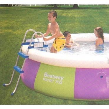 Bestway poolleiter f r quick up stahlrahmen pools 76cm test for Garten pool testbericht