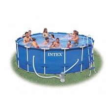 Intex Metal Frame Pool Stahlrahmen 457 x 122 cm Bild 1