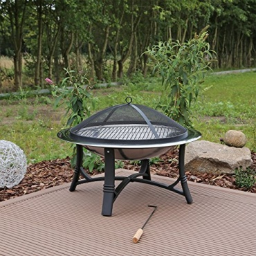 feuerschale mit grillrost aus edelstahl fs2 test. Black Bedroom Furniture Sets. Home Design Ideas