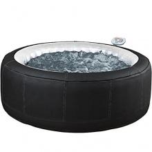 Aqua Spa Whirlpool rund 4 Personen, schwarz,grau Bild 1