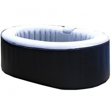 Aqua Spa Whirlpool oval 2 Personen, grau / hellgrau Bild 1