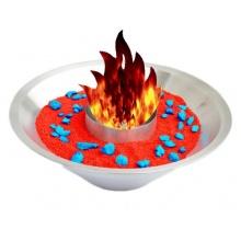 Moderne Feuerschale aus Edelstahl Bild 1