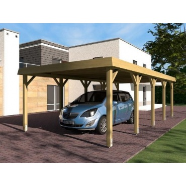 carport walmdach sauerland i 400 x 800 cm von prikker test. Black Bedroom Furniture Sets. Home Design Ideas