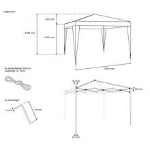 JAROLIFT Faltpavillon 3x3 m Basic, Gartenpavillon  Bild 1
